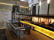 Kaiten sushi conveyor, transporter, slider, completed projects, photo of mounting