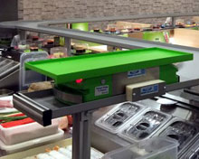 Express kaiten conveyor, fast conveyor moves from the kitchen directly to the client's table