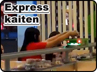 Express kaiten sushi conveyor