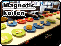 Magnetic kaiten sushi conveyor