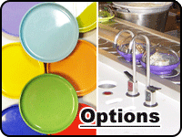 Options and accessories for kaiten sushi conveyors