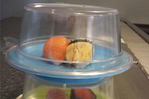 Kaiten sushi conveyor, lids, covers for plates