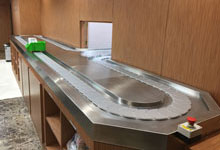 Conveyor, transporter, slider for medical pills and pharmaceuticals, pharmacies - for sale of medicines
