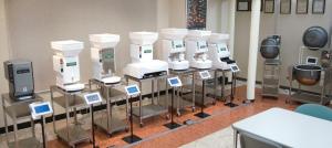 Showroom of AUTEC sushi robots