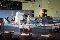 history of kaiten sushi conveyors, belts, sliders