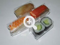 Robot for individual sushi packing