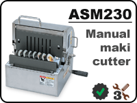 ASM230 maki sushi cutter for cutting rolls into 6/8/10 pieces