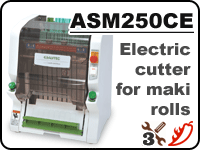 ASM250 maki sushi cutter for cutting rolls into 6/8/10 pieces