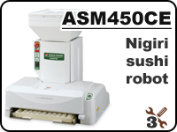 ASM450 industrial nigiri sushi robot for forming rice balls