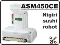 ASM450 industrial nigiri sushi robot for forming rice balls