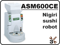 ASM600 industrial nigiri sushi robot for forming rice balls