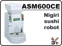 ASM600 industrial nigiri sushi robot for forming rice balls