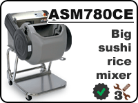 ASM780CE big industrial sushi rice mixer
