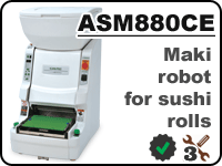 ASM880 maki sushi robot for cooking rolls with rice inside/outside