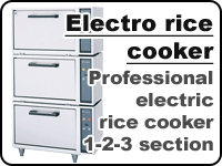 Professional electric rice cooker Fujimak